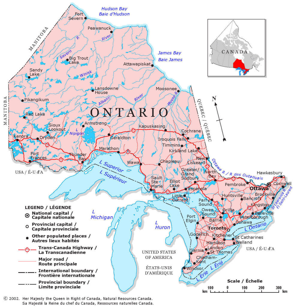 Ontario fishing map for Ontario canada fishing resorts